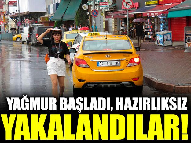 İstanbul'da yağış etkisini göstermeye başladı