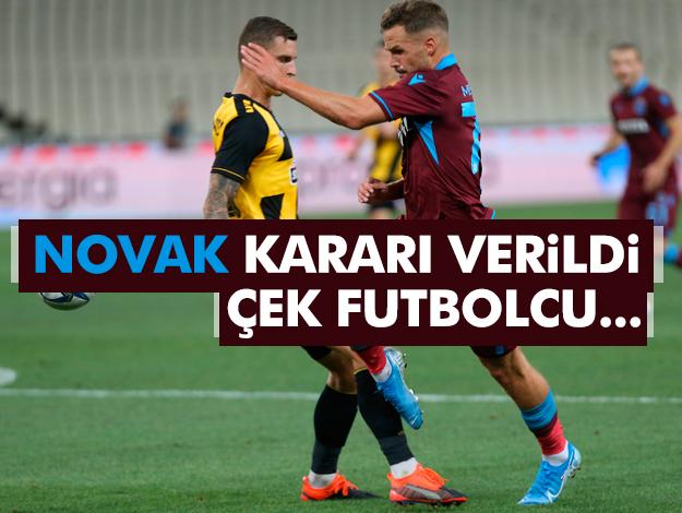 Trabzonspor'da Novak ve iki isim hakkında karar verildi!