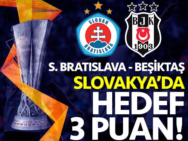Slovan Bratislava - Beşiktaş UEFA Avrupa Ligi maçı saat kaçta ve hangi kanalda