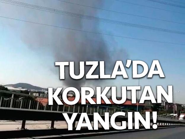 Tuzla'da yangın! Ekipler sevk edildi