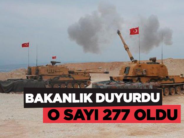 Barış Pınarı Harekatı'nda kaç terörist etkisiz hale getirildi? Bakanlık açıkladı