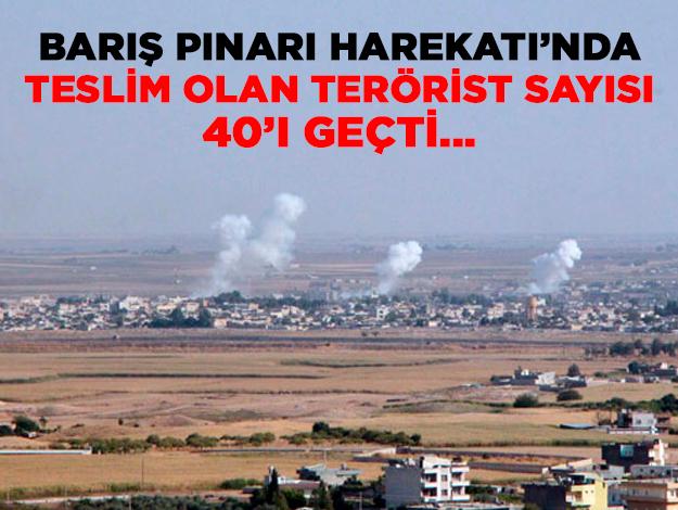 Barış Pınarı Harekatı'nda teslim olan terörist sayısı 40'ı geçti