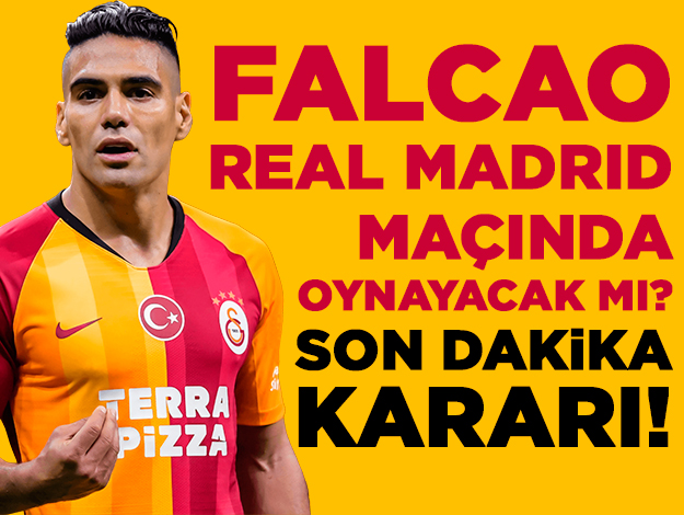 Radamel Falcao Real Madrid maçında oynayacak mı? Son dakika kararı...