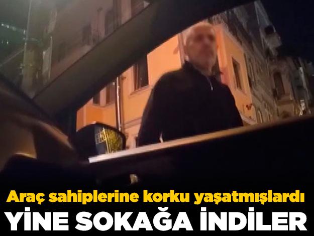 108 lira ceza ile serbest bırakılan değnekçiler yine ortaya çıktı!
