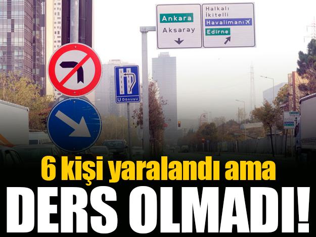 Bağcılar'daki 6 kişinin yaralandığı kaza kimseye ders olmadı!