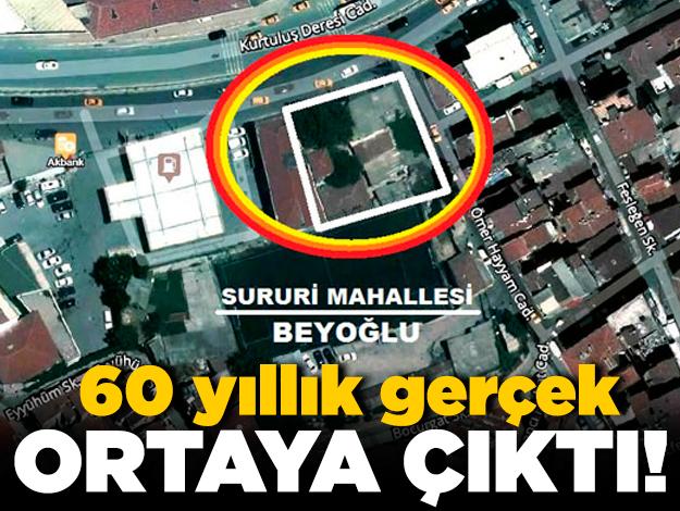 Beyoğlu'nda 60 yıllık gerçek ortaya çıktı