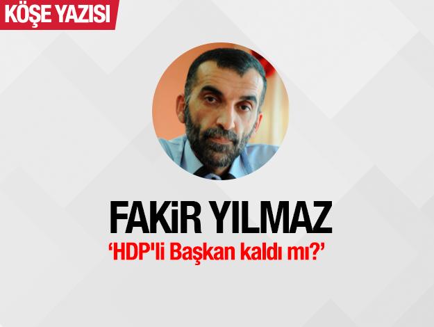 HDP'li Başkan kaldı mı?