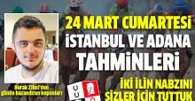 24Mart 2018 Cumartesi İstanbul ve Adana At Yarışı Tahminleri - Altılı Ganyan Bülteni