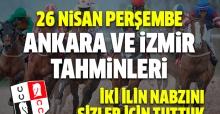 26 Nisan 2018 Perşembe Ankara ve İzmir At Yarışı Tahminleri - Hazır Tahmin ve Kupon