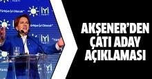 Meral Akşener'den çatı aday ve Gül açıklaması