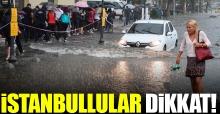 İstanbul için son dakika yağmur uyarısı