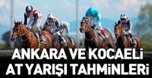 19 Haziran 2018 Salı Kocaeli ve Ankara At Yarışı Tahminleri