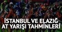 20 Haziran Çarşamba İstanbul ve Elazığ At Yarışı Tahminleri