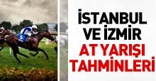 15 Temmuz 2018 Pazar İstanbul ve İzmir At Yarışı Tahminleri