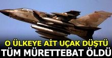 Suudi Arabistan savaş uçağı eğitimde düştü