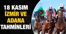 18 Kasım 2018 Pazar İzmir ve Adana At Yarışı Tahminleri