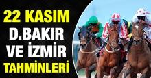 22 Kasım 2018 Perşembe İzmir ve Diyarbakır At Yarışı Tahminleri - Hazır Kuponlar