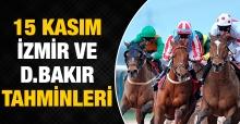 15 Kasım 2018 Perşembe İzmir ve Diyarbakır At Yarışı Tahminleri - Hazır Kuponlar