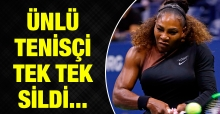 Serena Williams her şeyi sildi!