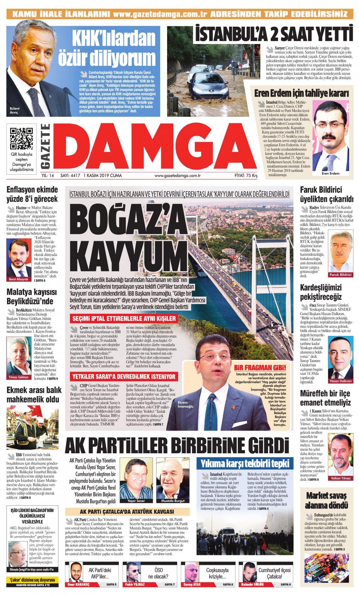 Gazete Damga - 01.11.2019 Sayfaları