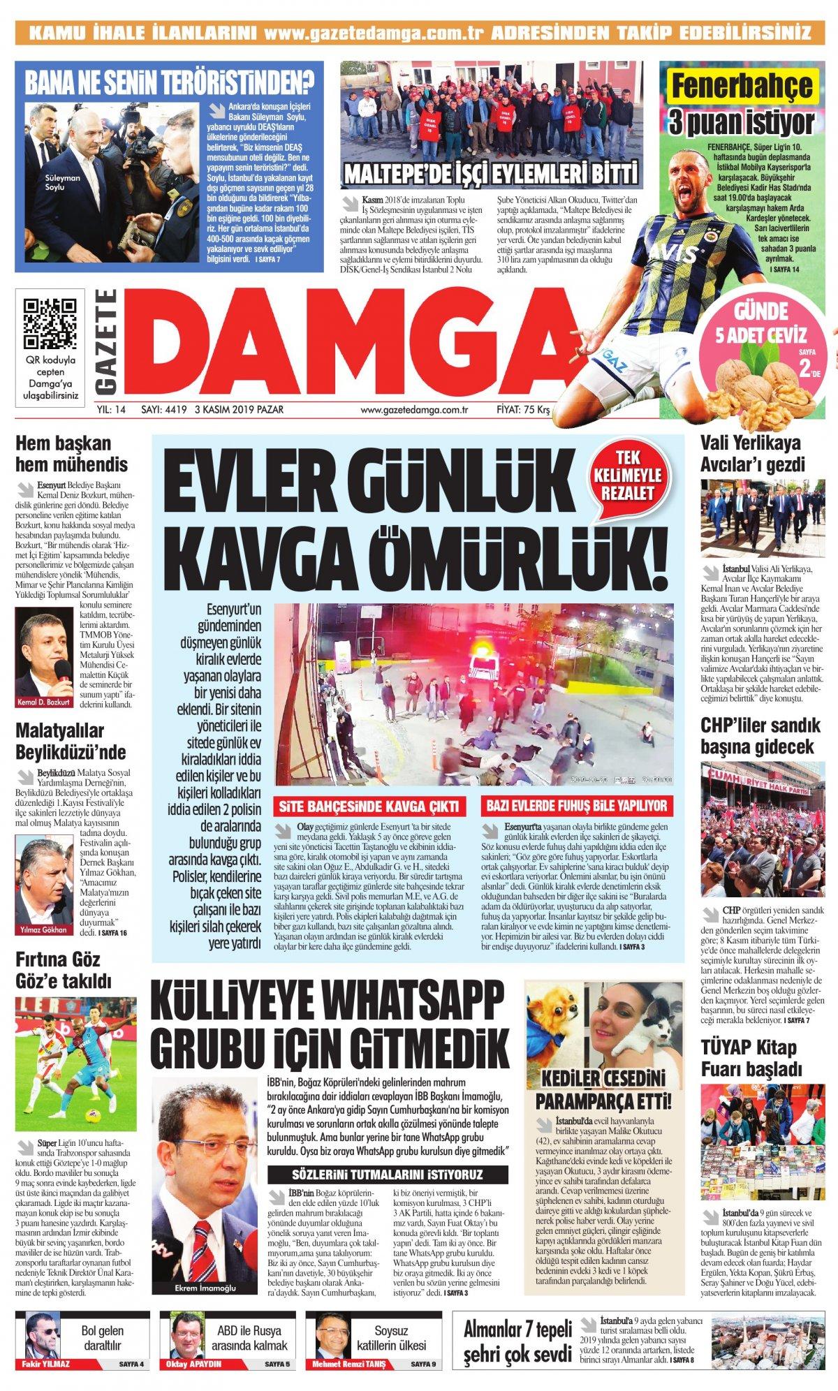Gazete Damga - 03.11.2019 Sayfaları