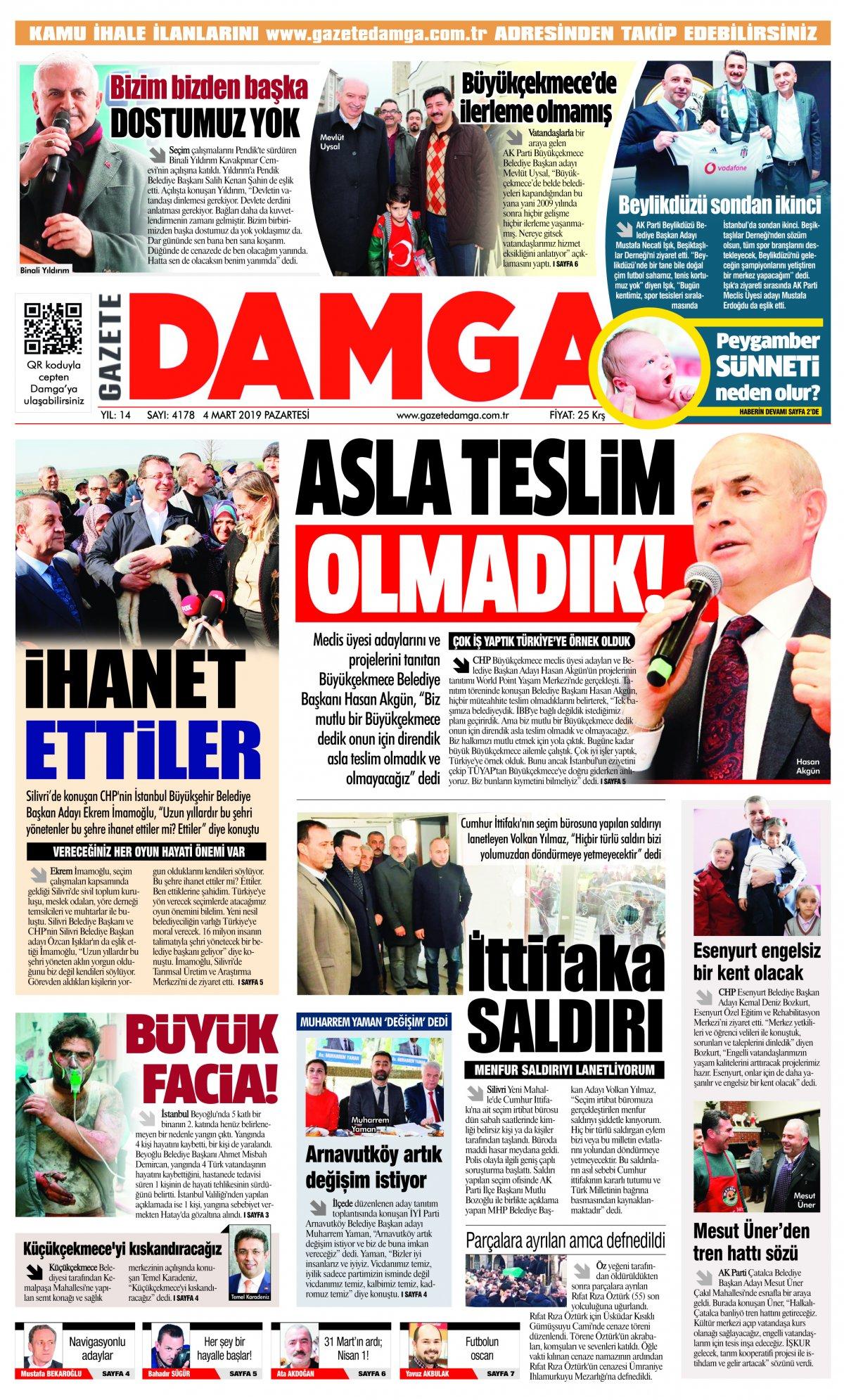 Gazete Damga - 04.03.2019 Sayfaları