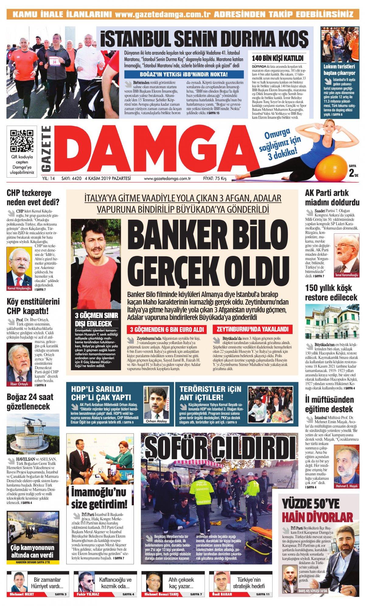 Gazete Damga - 04.11.2019 Sayfaları