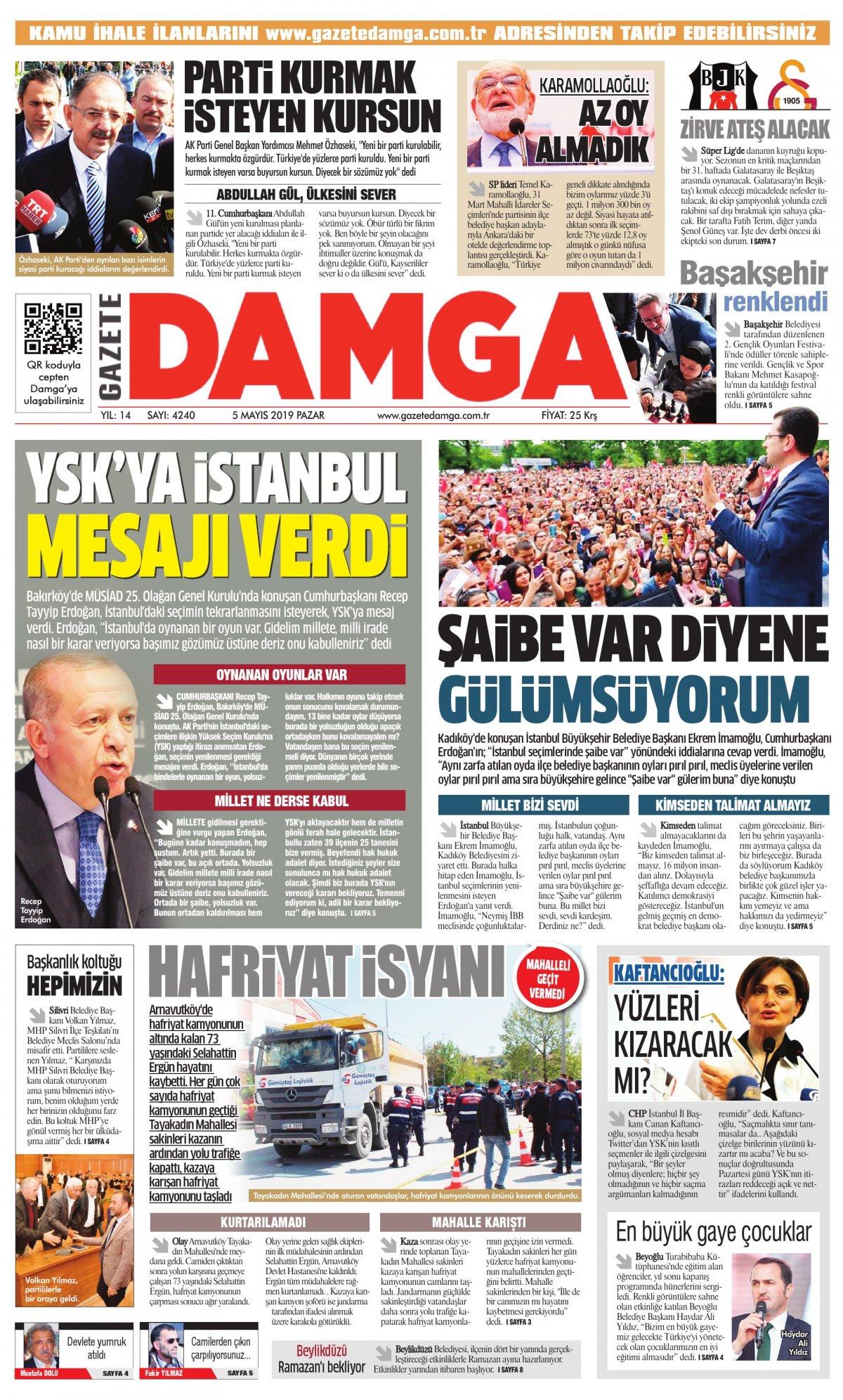 Gazete Damga - 05.05.2019 Sayfaları