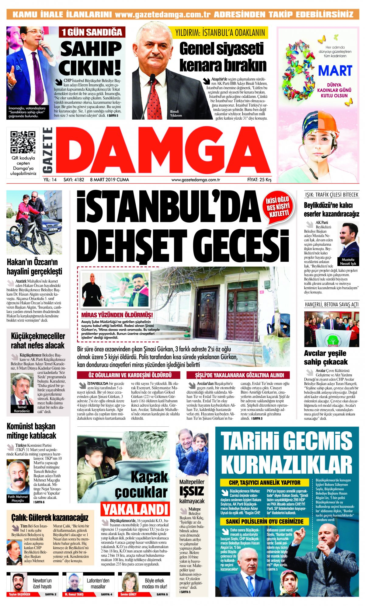 Gazete Damga - 08.03.2019 Sayfaları