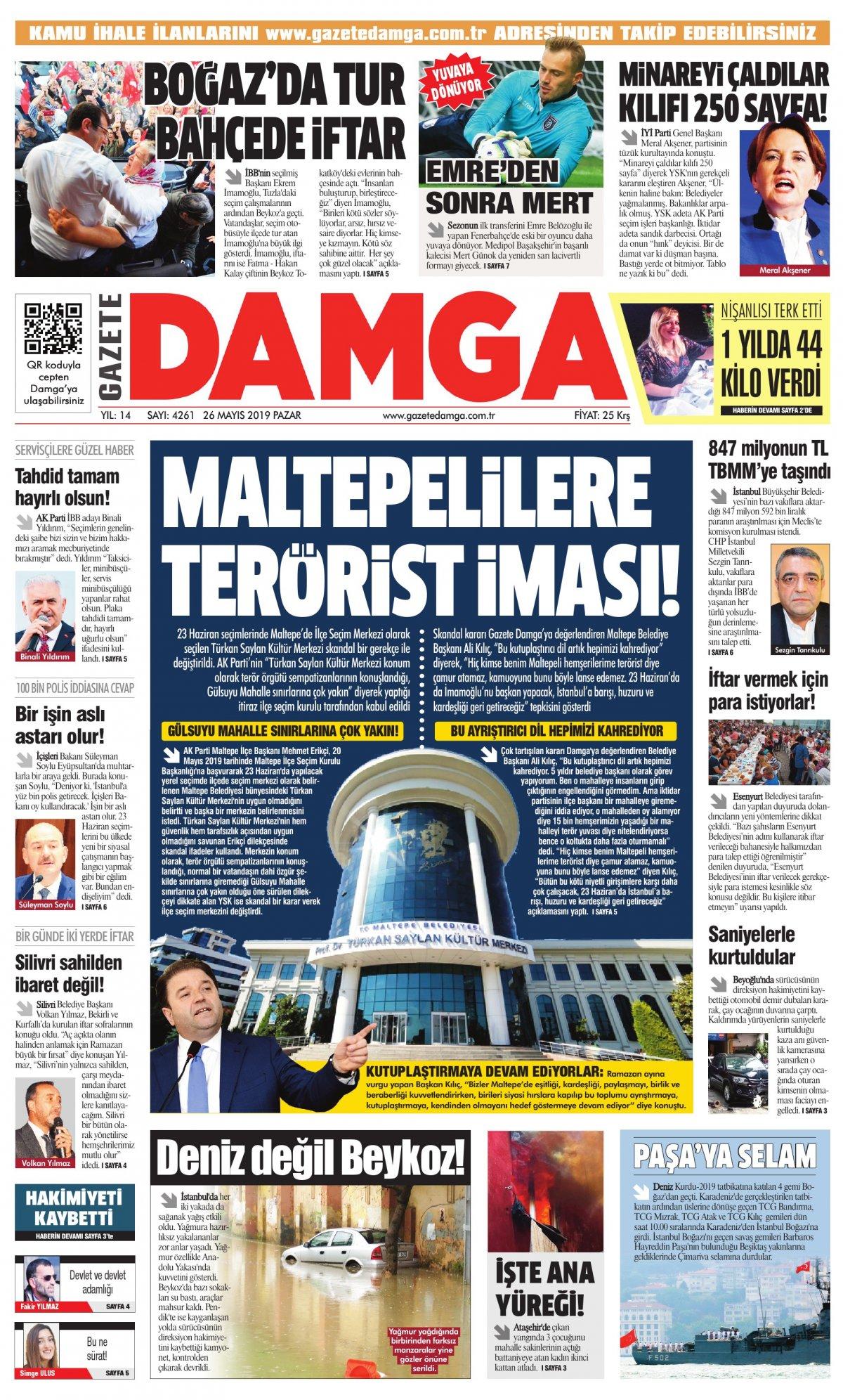 Gazete Damga - 26.05.2019 Sayfaları