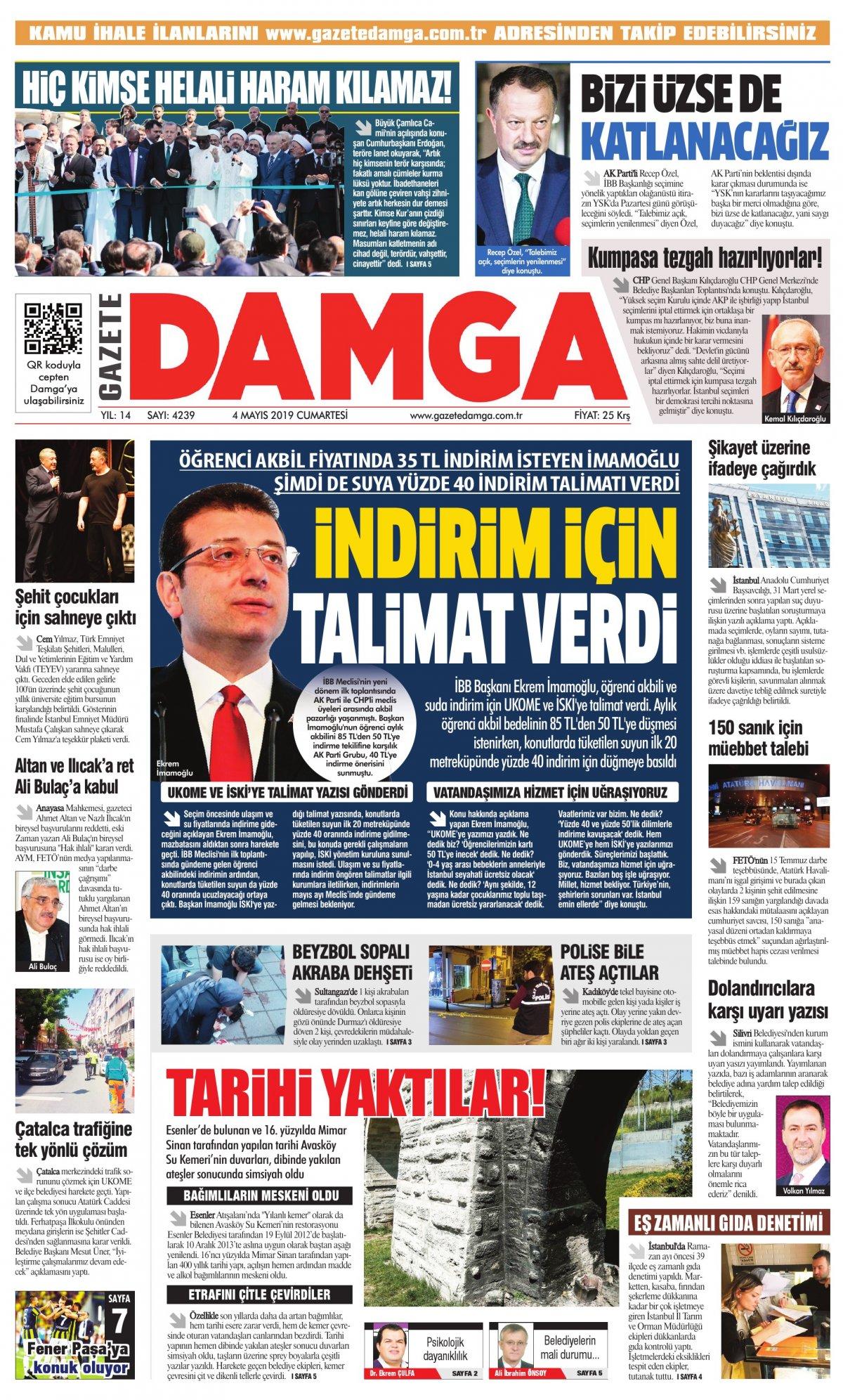 Gazete Damga - 04.05.2019 Sayfaları