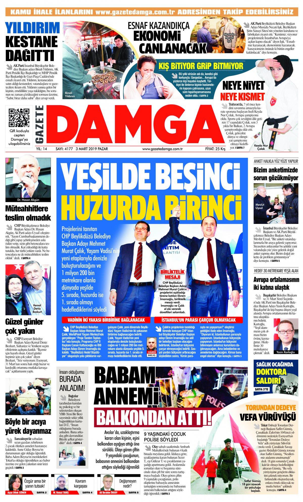 Gazete Damga - 03.03.2019 Sayfaları