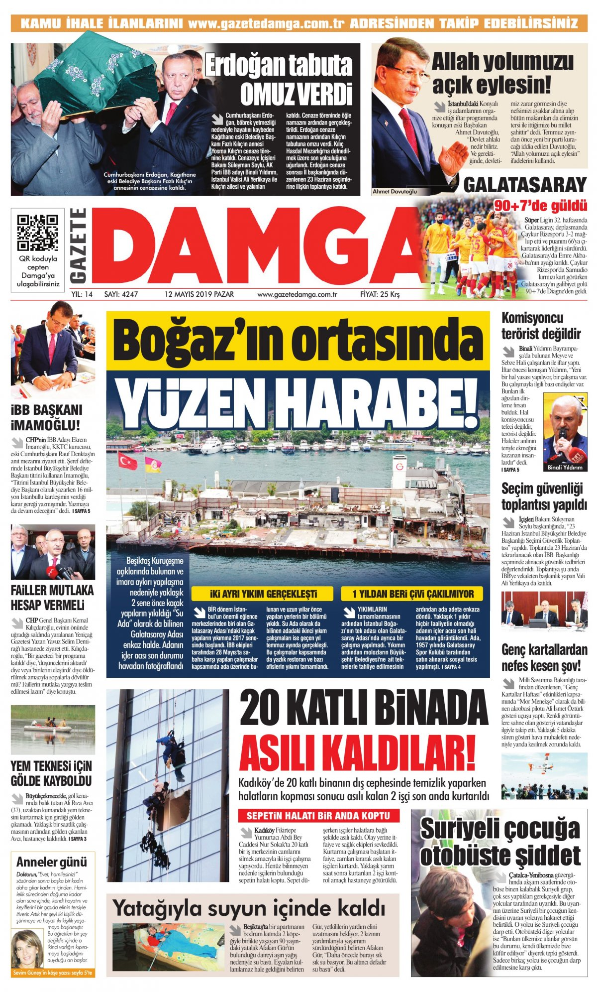 Gazete Damga - 12.05.2019 Sayfaları