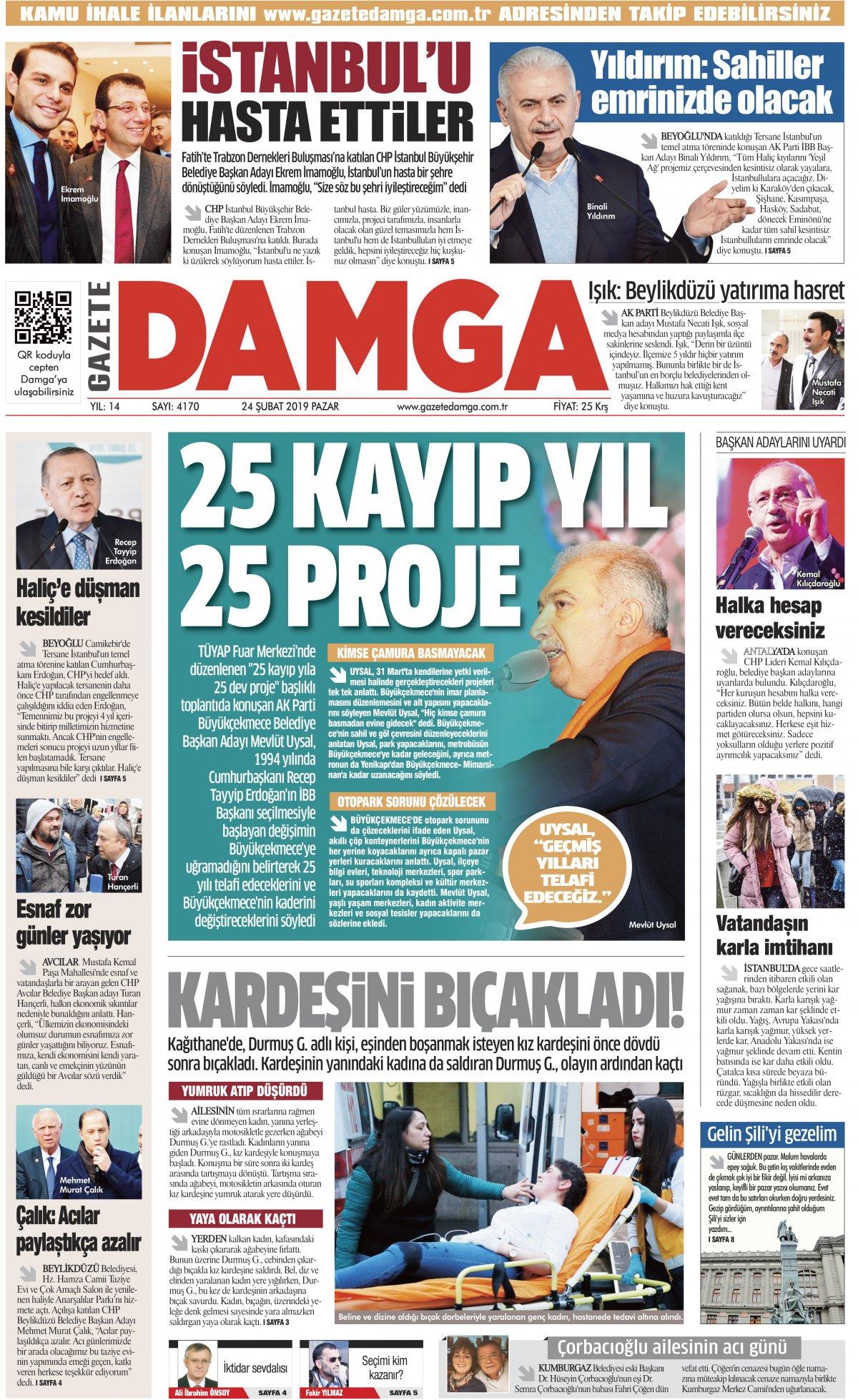Gazete Damga - 24.02.2019 Sayfaları