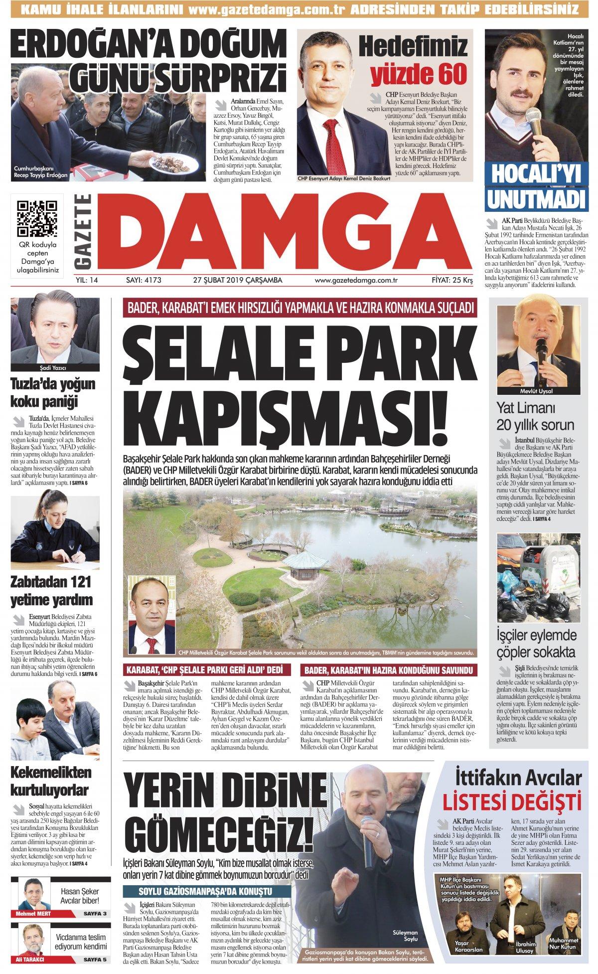 Gazete Damga - 27.02.2019 Sayfaları