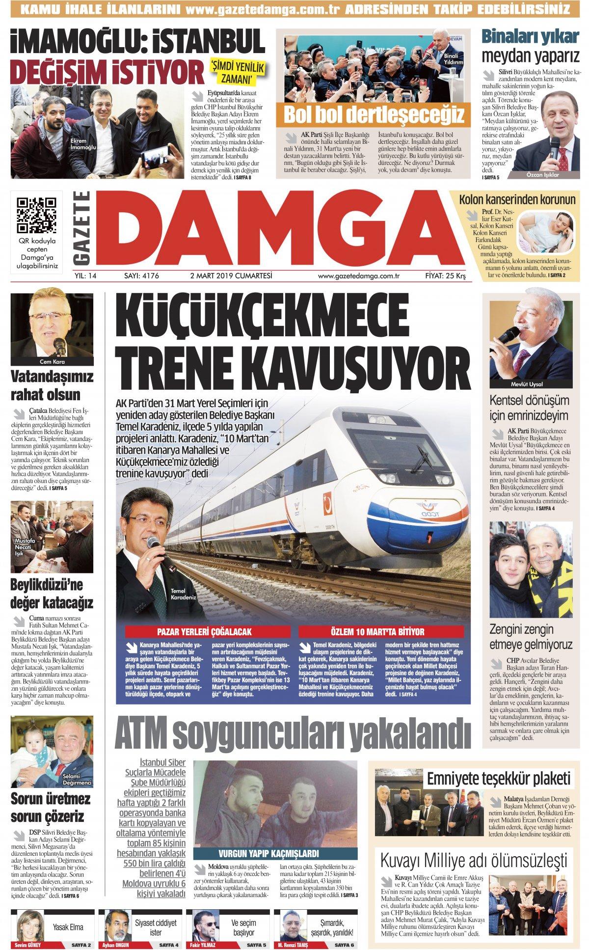 Gazete Damga - 02.03.2019 Sayfaları