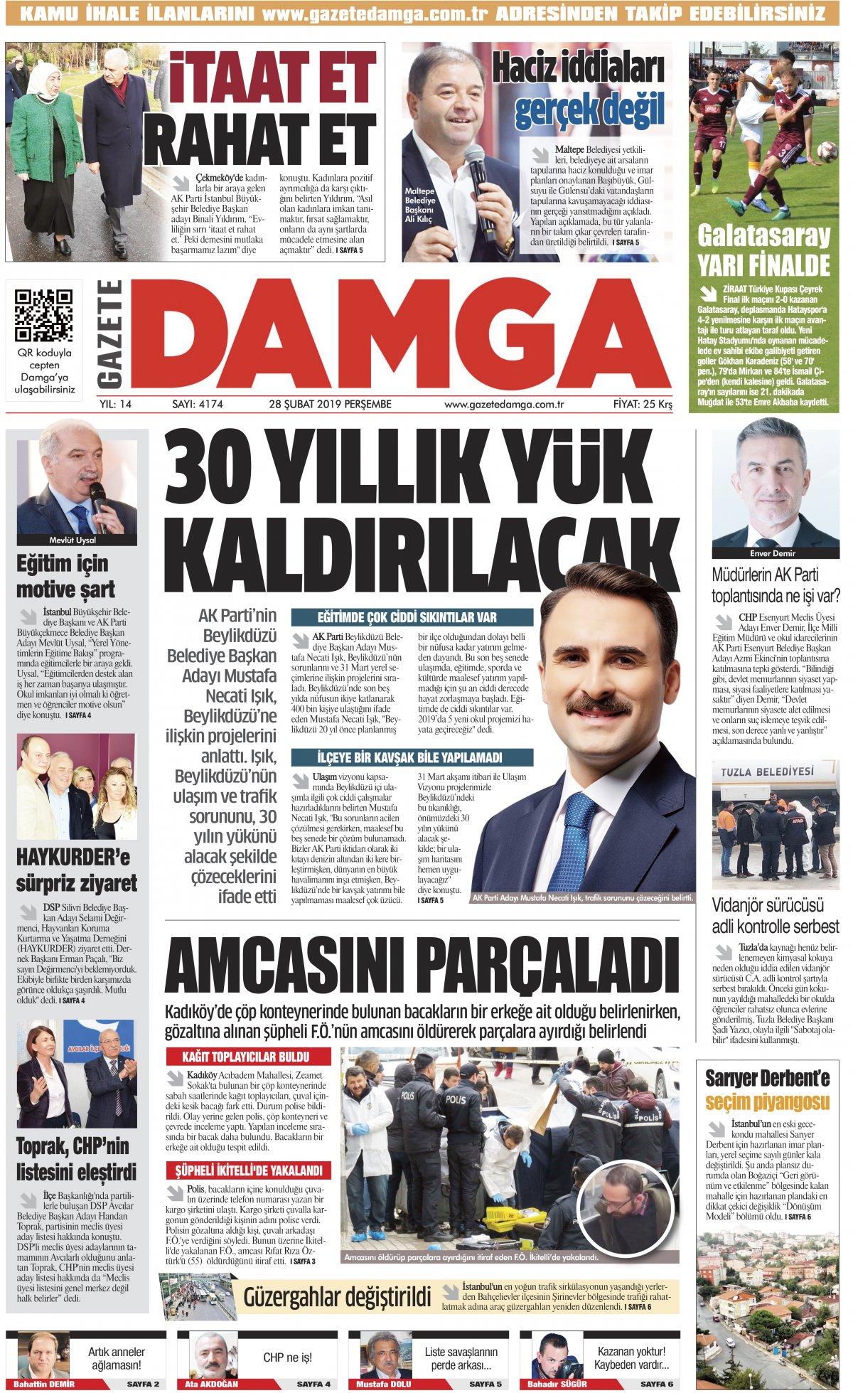 Gazete Damga - 28.02.2019 Sayfaları