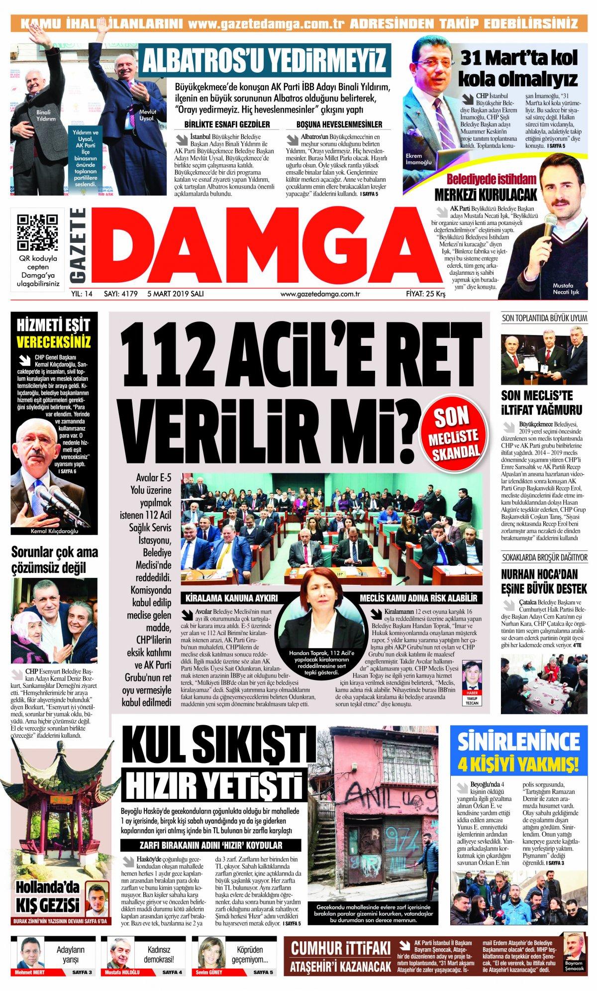 Gazete Damga - 05.03.2019 Sayfaları