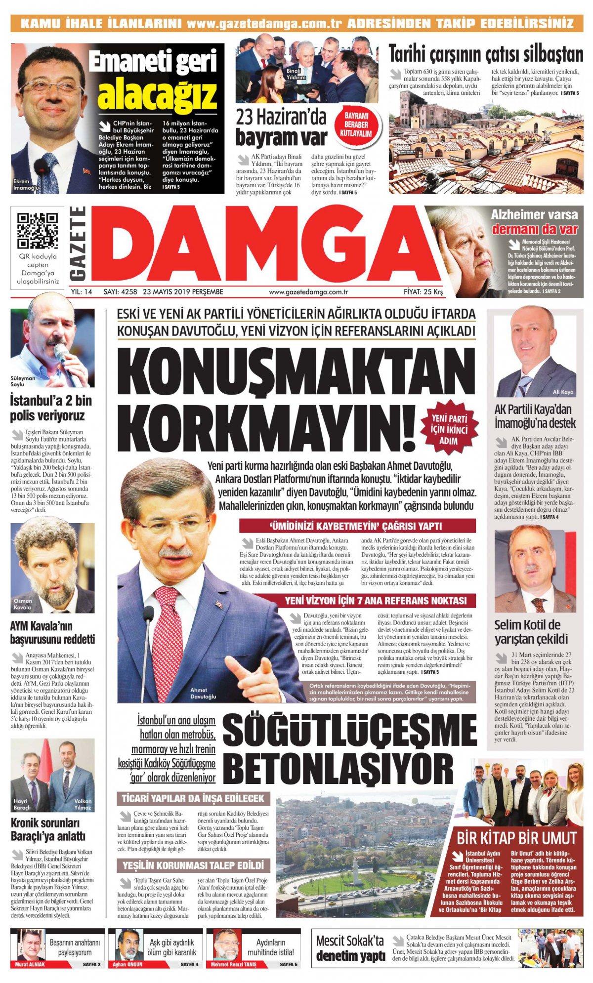 Gazete Damga - 23.05.2019 Sayfaları