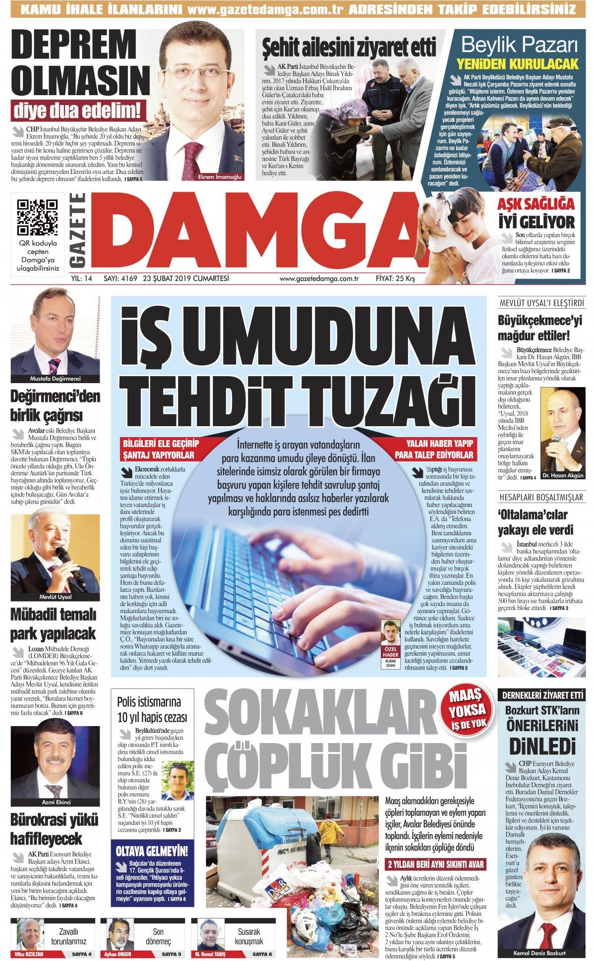 Gazete Damga - 23.02.2019 Sayfaları