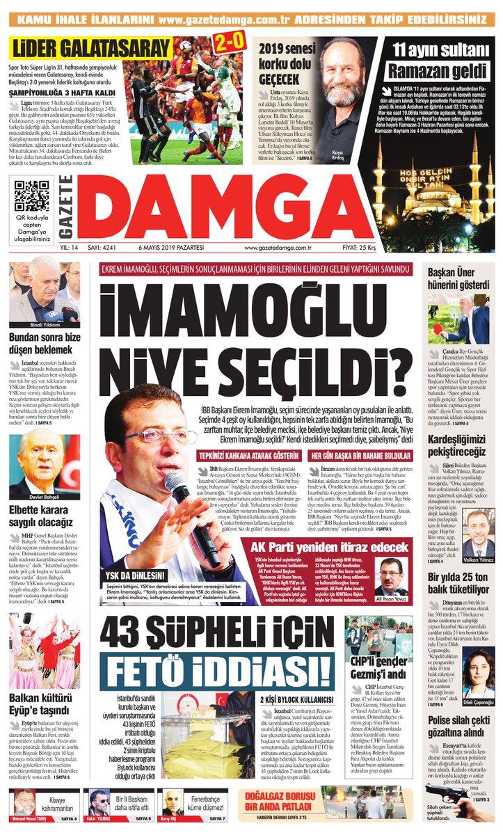 Gazete Damga - 06.05.2019 Sayfaları