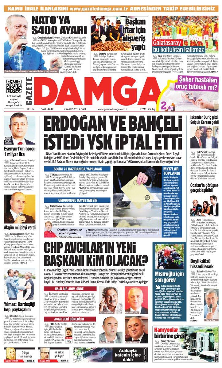 Gazete Damga - 07.05.2019 Sayfaları