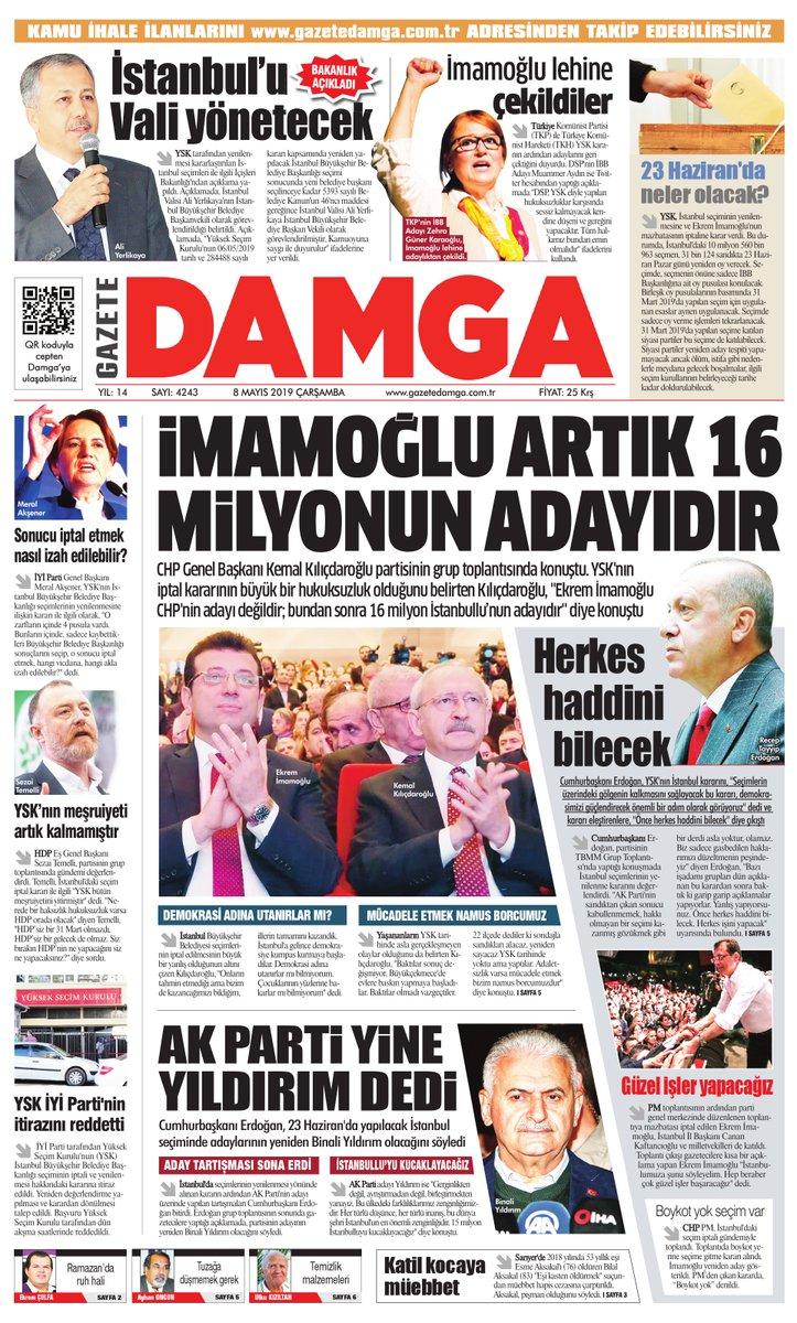 Gazete Damga - 08.05.2019 Sayfaları