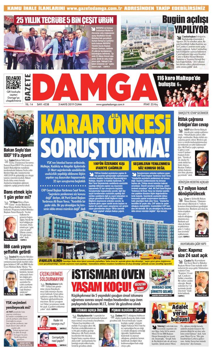 Gazete Damga - 03.05.2019 Sayfaları