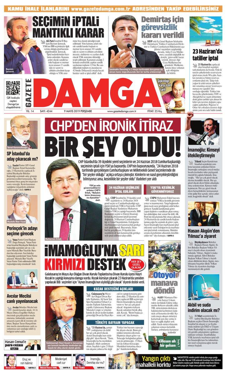 Gazete Damga - 09.05.2019 Sayfaları