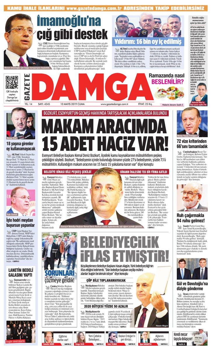 Gazete Damga - 10.05.2019 Sayfaları