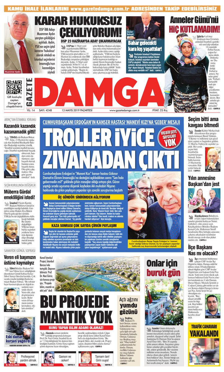 Gazete Damga - 13.05.2019 Sayfaları