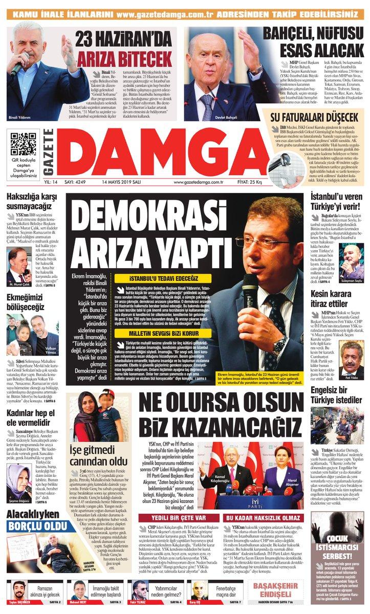 Gazete Damga - 14.05.2019 Sayfaları