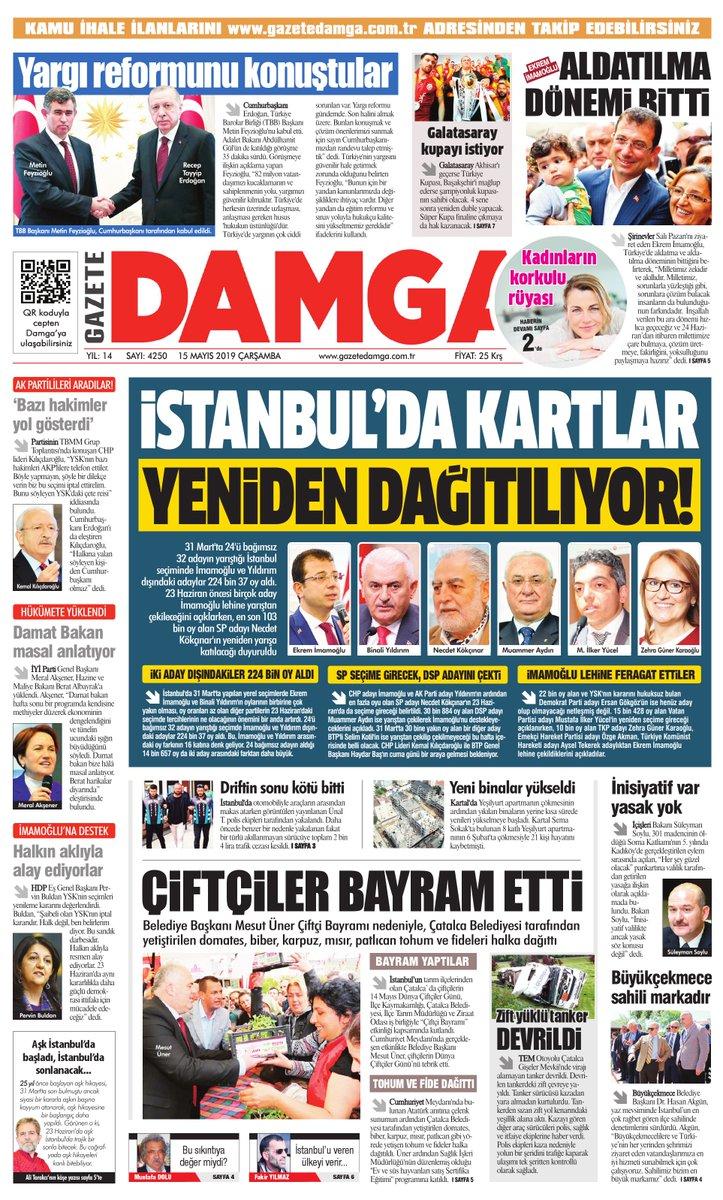 Gazete Damga - 15.05.2019 Sayfaları