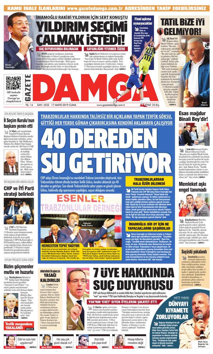 Gazete Damga - 17.05.2019 Sayfaları